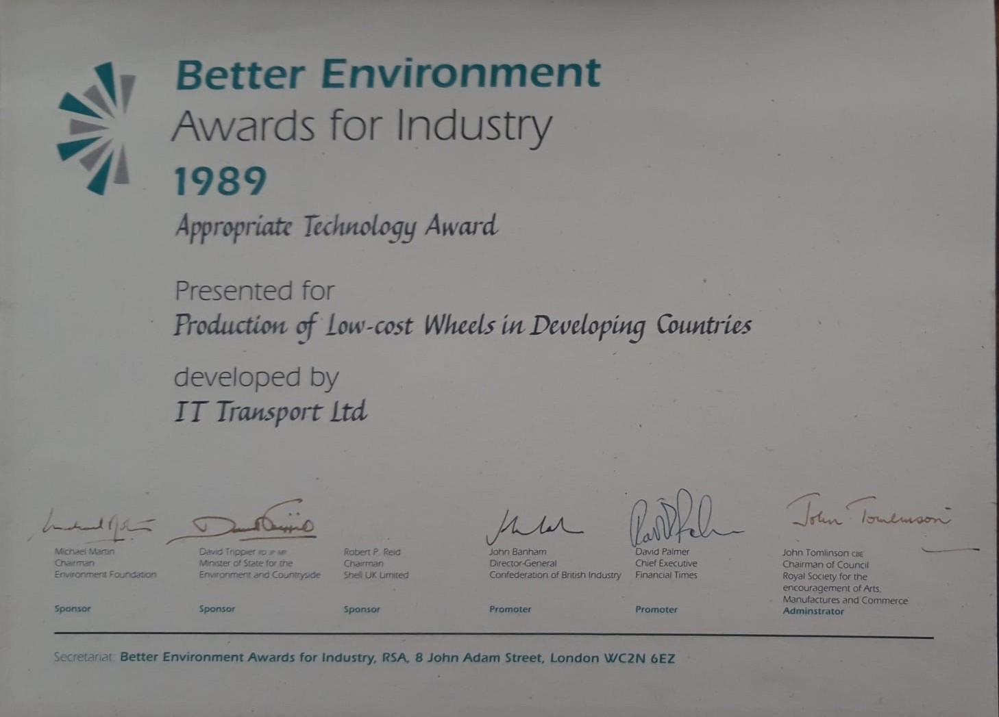 Better Environment Awards for Industry – Winners!